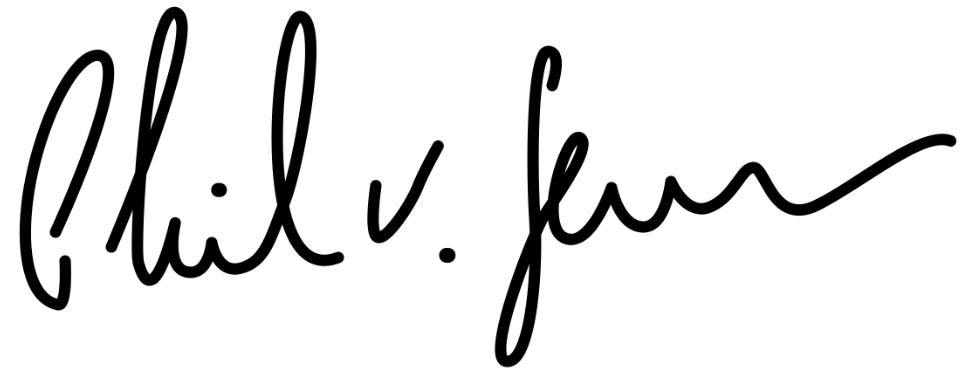 Phil v. Sassen - Unterschrift